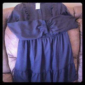 Button and ruffle dress